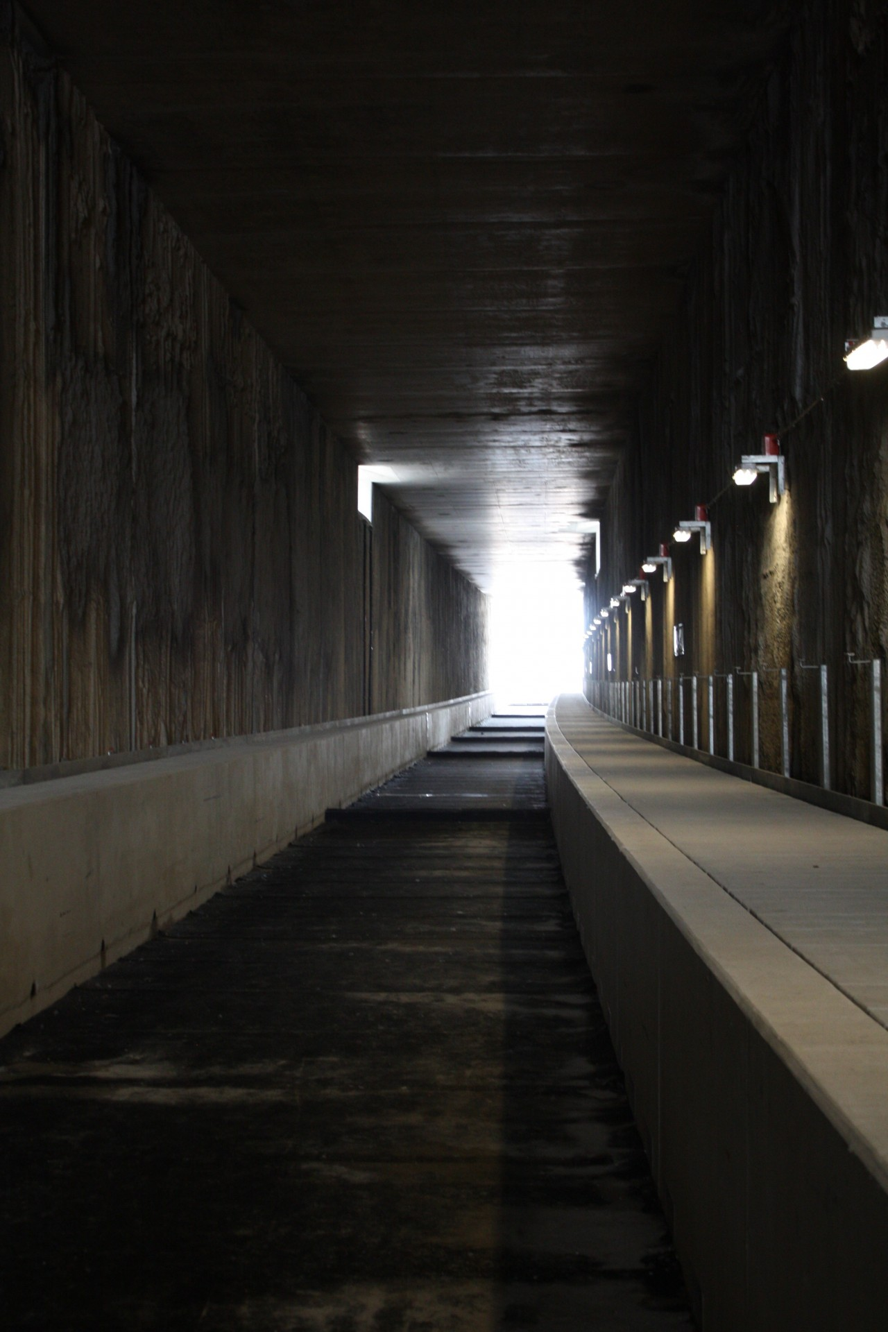 Inside of the tunnel