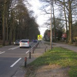 The Schutterhoeflaan bus stop towards Amersfoort. It's sister at least now serves as a parking, this one is locked up so no car nor bus will ever stop here. The platform is still visible.