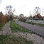 The former bus stop towards Amersfoort had a path to it. Except that the path didn't fully connect to the bus stop. Is this a citrastructuræ leading to a citrastructuræ?