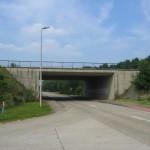 The bridge over the Nijverheidsweg The bridge deck itself has asphalt, but no cars will pass over it.