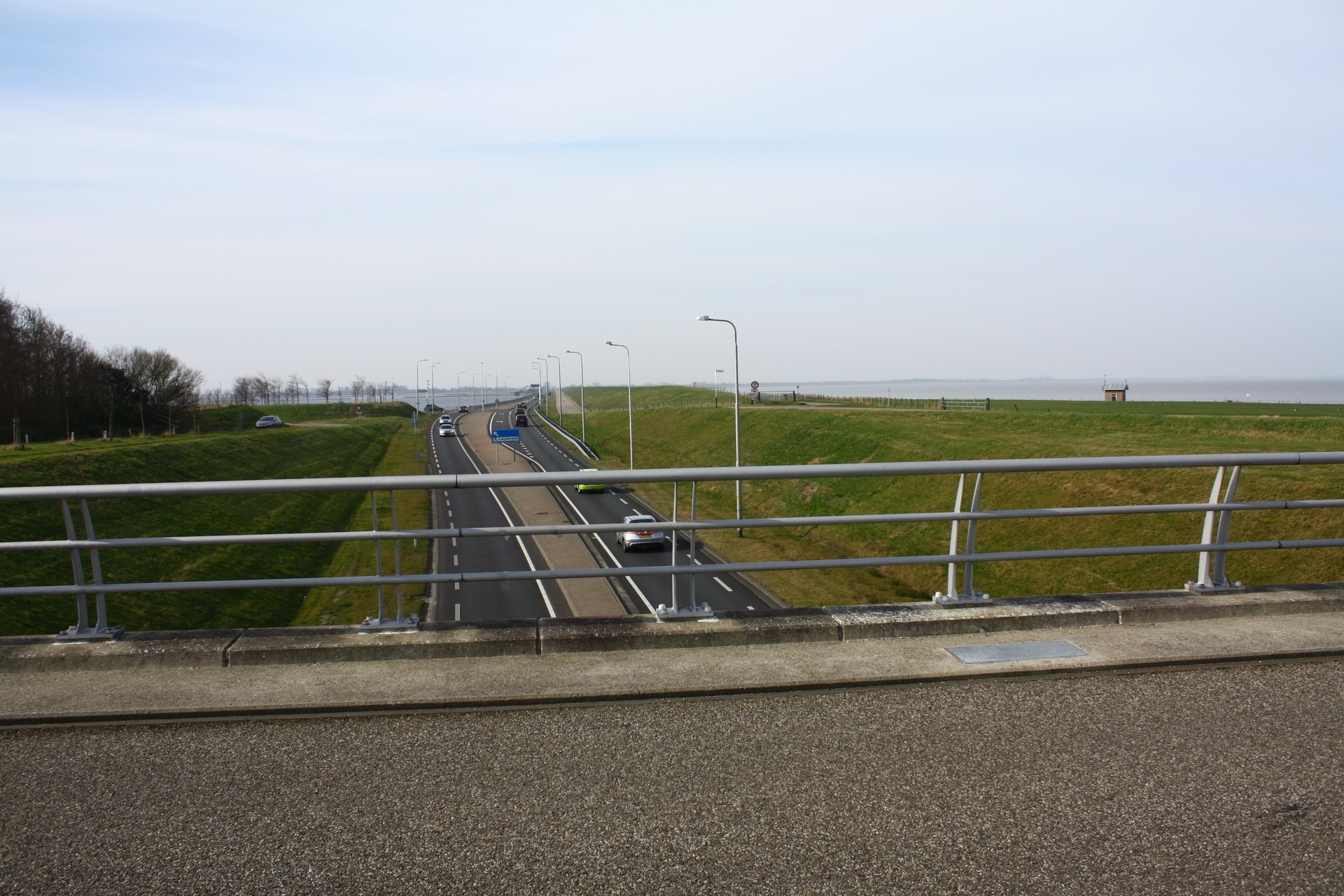 Looking westwards on Wieringen towards the Amsteldiepdijk